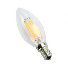 E14-5W-3000K Лампа LED (Свеча прозрачная Филомент)